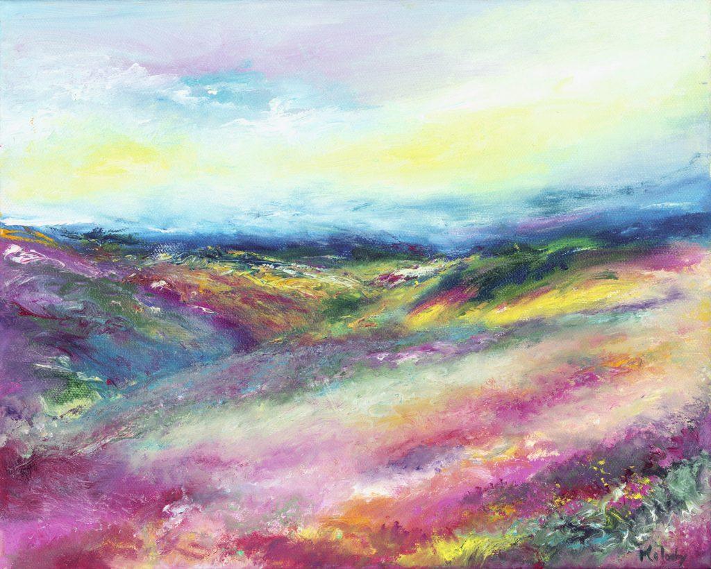 The beautiful summer landscape of Exmoor
