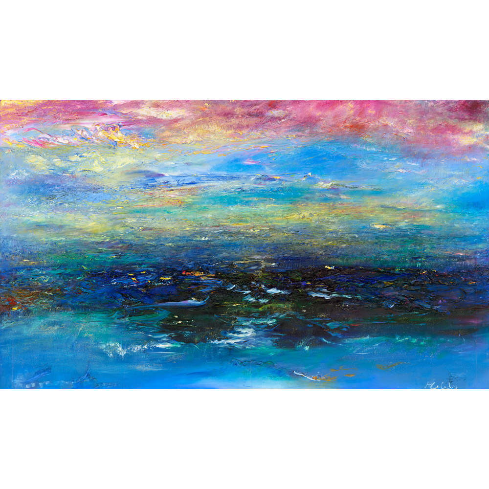 Glory - a seascape painting inspired by the Exmoor coast