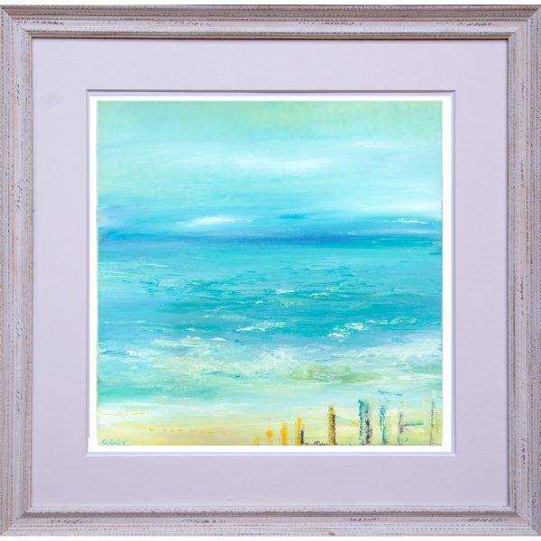 Hope - seascape painting framed Giclée print