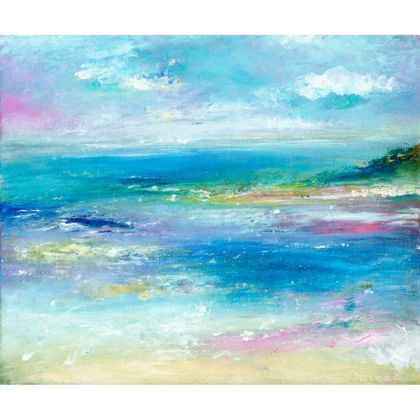 Hurlstone seascape painting of the Exmoor coast