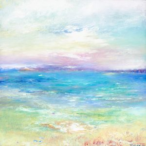 Listen To The Waves a tranquil seascape painting
