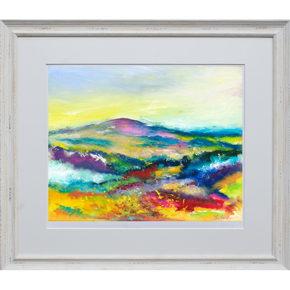 Love Dunkery - landscape painting of the beacon framed