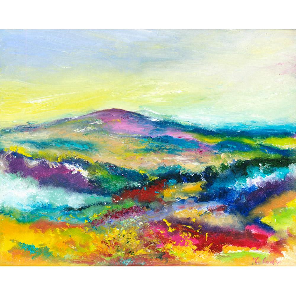 Love Dunkery - landscape art of Dunkery Beacon on Exmoor