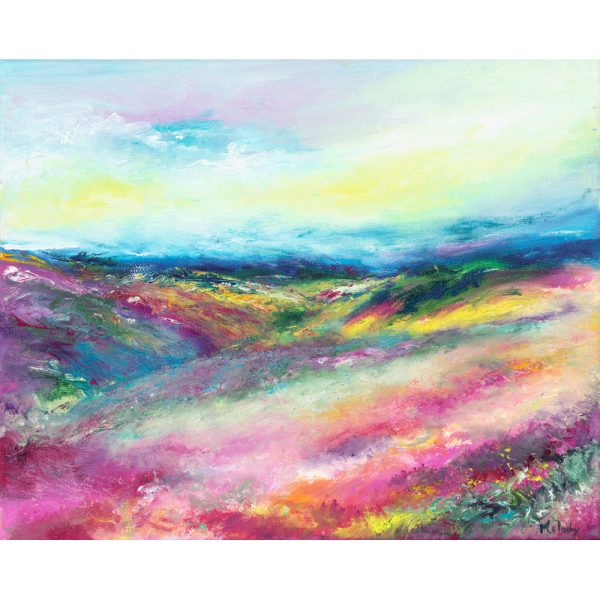 Love Exmoor - landscape painting in oil on canvas
