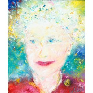 Queen Elizabeth II portrait painting