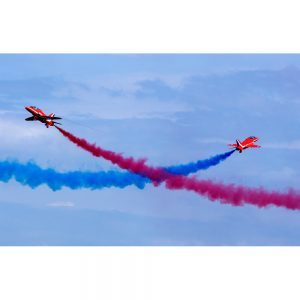 Red Arrows crossing manoeuvre