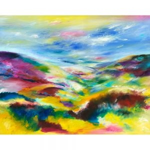 Valentine on Exmoor landscape painting on canvas