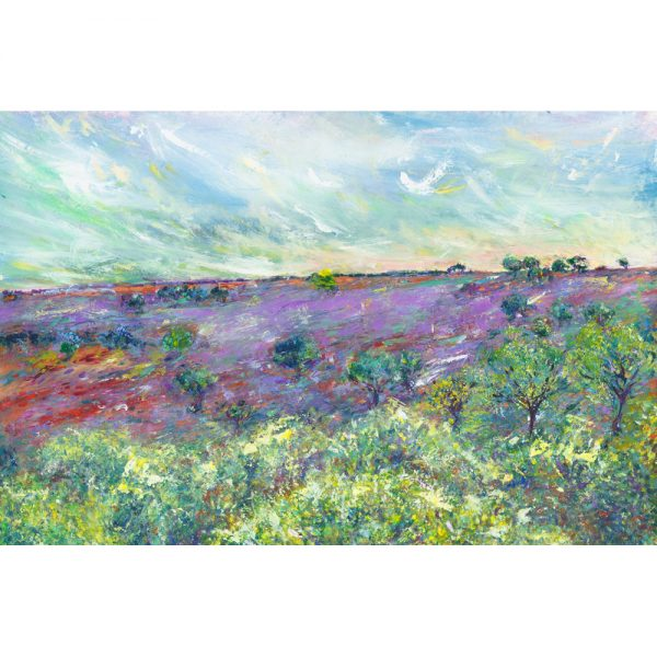 A New Season landscape painting of Exmoor