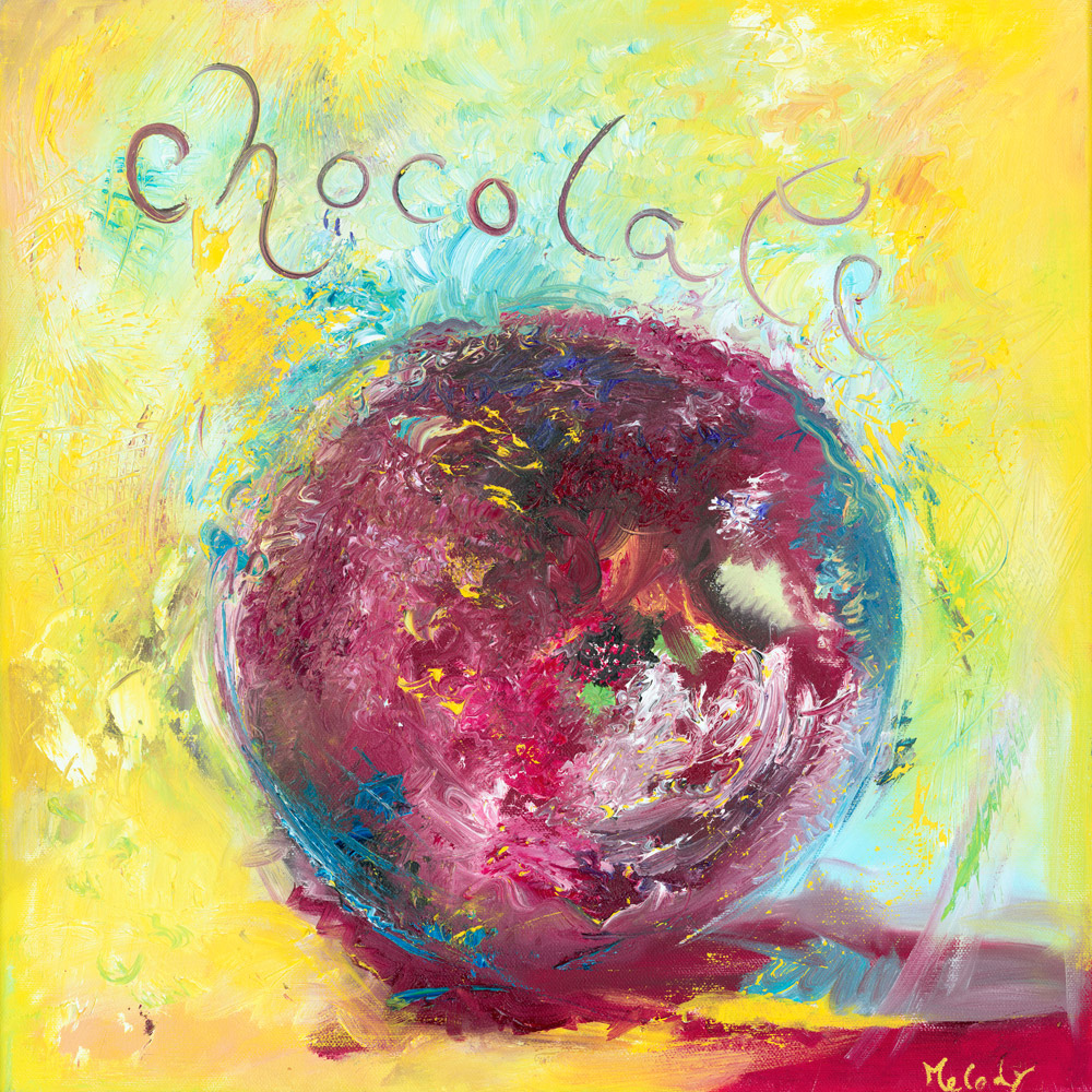 Synaesthesia the colour of Chocolate abstract art