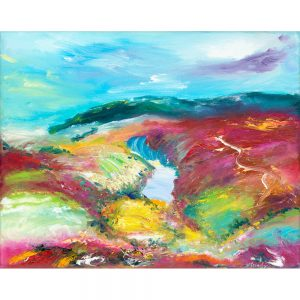 Nutscale Water On Exmoor landscape painting