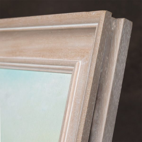 Corner of PW8 Limed wood frame