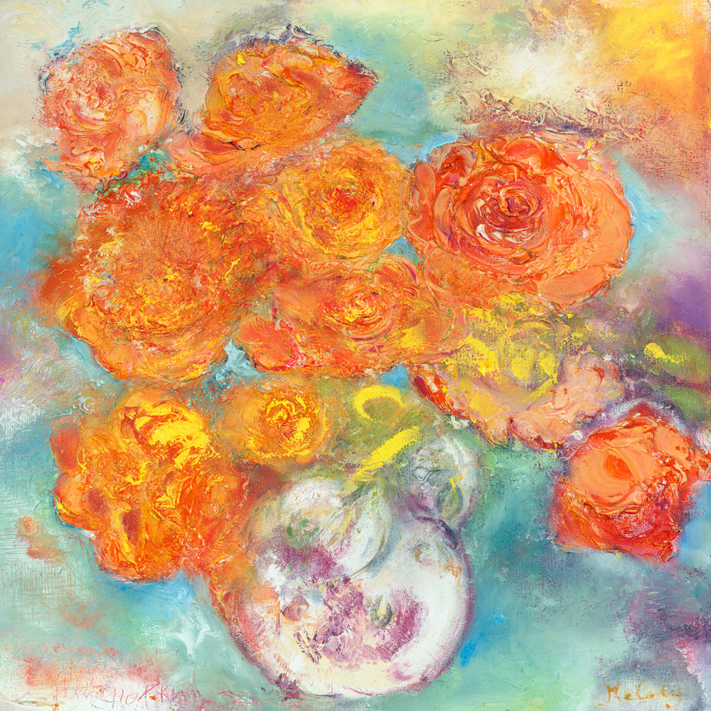 Peace painting of a rose from Melody's Garden flower floral
