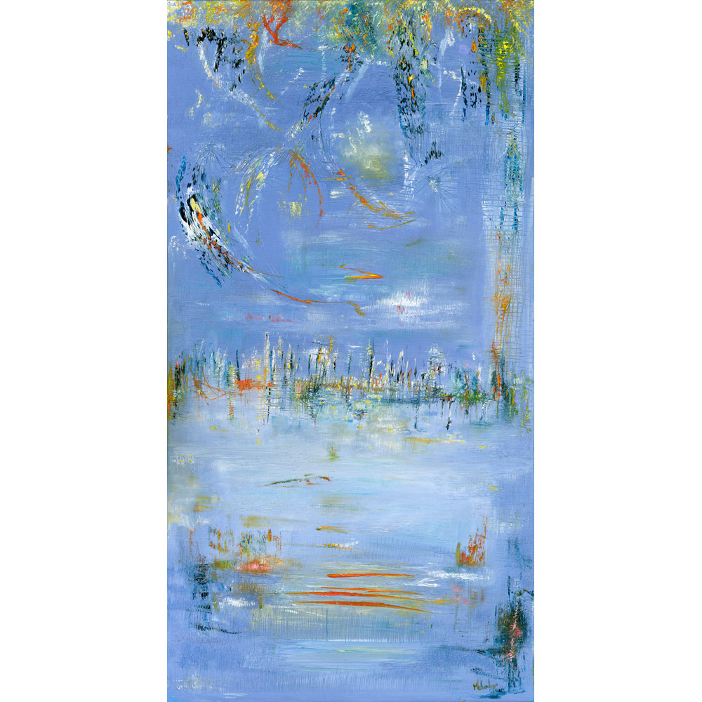 Summer In The City abstract painting