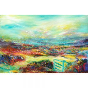 The Blue Gate Landscape Painting of North Hill on Exmoor