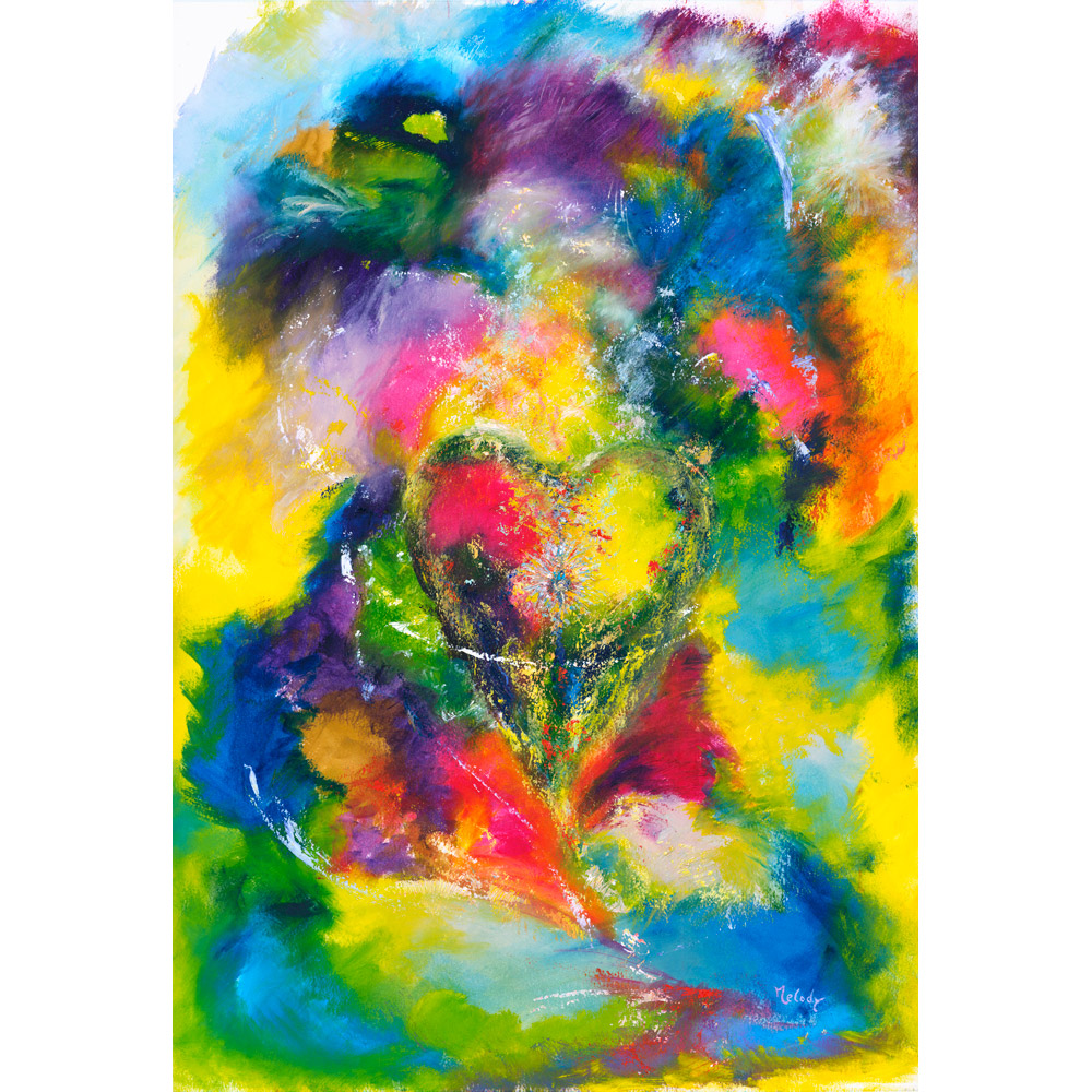 You Have My Heart - abstract painting of love romance and purity