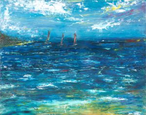 As Vast As The Ocean - seascape painting in oil on canvas