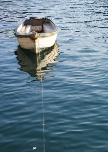 Boat With Feather - Polperro in Cornwall