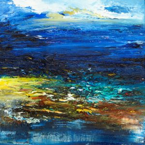 Break Through - seascape painting in oil on canvas