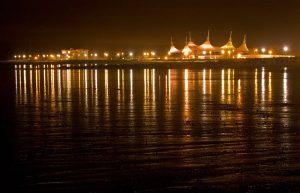 City On Stilts - Butlins in Minehead at night