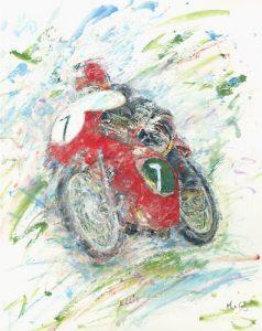Tony Ellis on 250cc Cotton Telstar