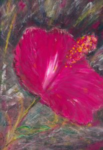 His Passion For Me - painting in oil on paper of amaryllis