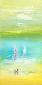 Holiday - seascape painting in oil on canvas