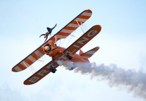 Breitling wing walker over Minehead