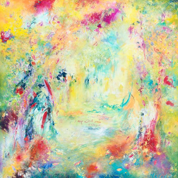 I Am With You Always - abstract art in oil on canvas