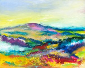 Love Dunkery - Exmoor landscape painting in oil on canvas of Dunkery Beacon