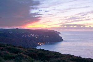 Lynton And Lynmouth evening light