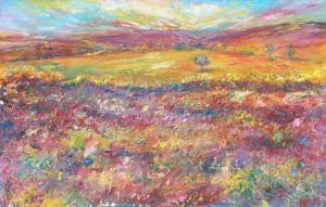My Eden - landscape painting on Exmoor in oil on paper