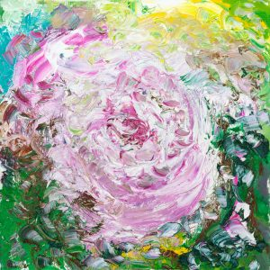 My Rose - Original oil painting on canvas deep textured oil