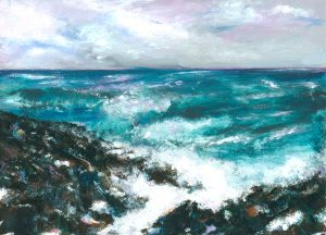 My Rock - seascape painting in oil on canvas