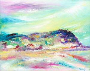 North Hill Minehead - landscape painting in oil on canvas