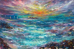 Sailing Home - seascape painting in oil on board