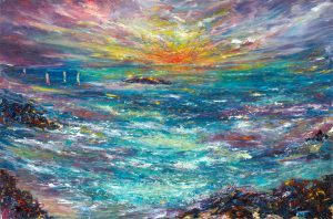 Sailing Home - seascape painting in oil on canvas