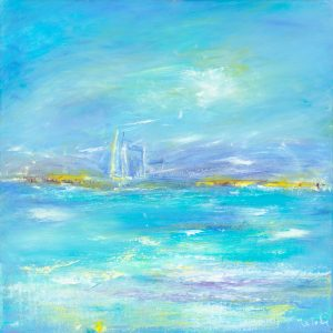 Summer Tide - seascape painting in oil on canvas