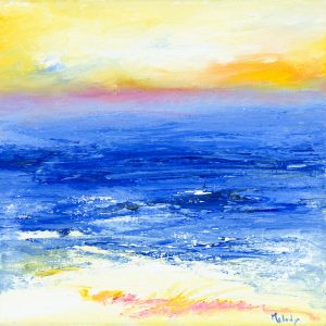 Summer On The Horizon - seascape painting in oil on canvas