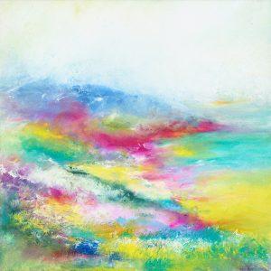 Sunny Exmoor - landscape painting in oil on canvas near Porlock Weir