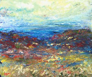 The Colour of Exmoor - landscape painting in oil on canvas