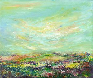 The Cloud On North Hill Exmoor - landscape painting in oil on canvas