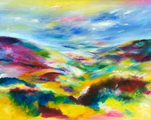 Valentine on Exmoor - landscape painting in oil on canvas