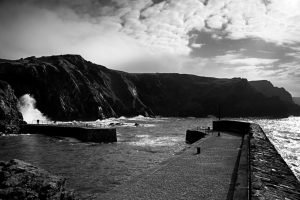 Watching The Waves Mullion harbour Cornwall