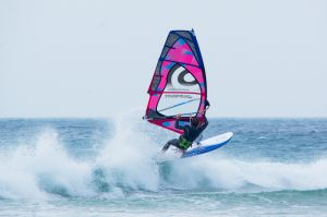 Windsurfing At Godrevey in Cornwall