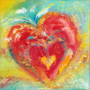 You Set Your Love On Me - abstract art in oil on canvas