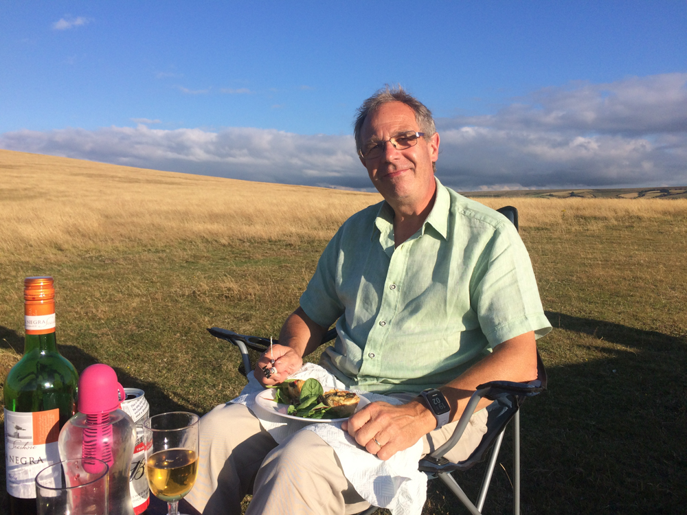 Enjoying my Birthday Picnic Exmoor and being spoilt by Melody