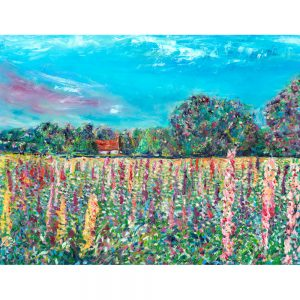 Heavenly Bouquet - landscape painting of wild Fox Gloves