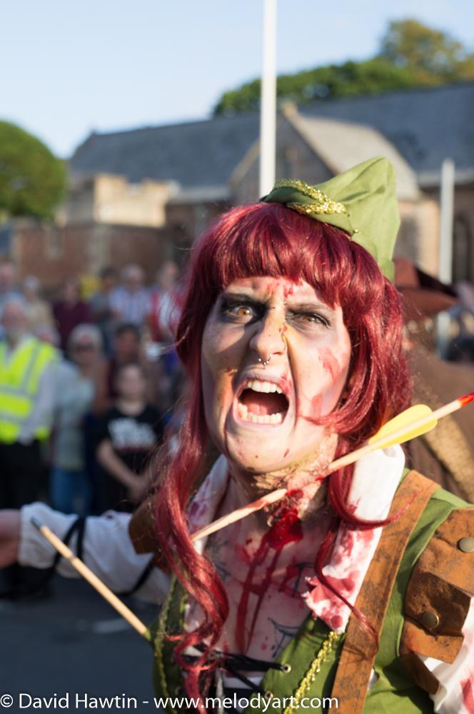 Porlock Carnival zombie