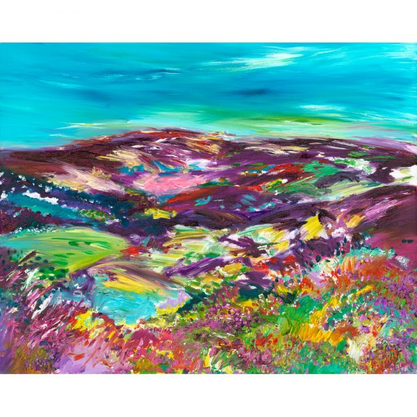 Purple Headed Mountain - landscape painting of Dunkery Beacon on Exmoor