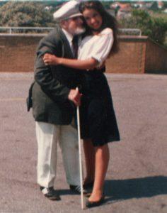 Elmer Richards St Dunstans warblind veteran with Melody